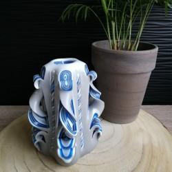 Bougie sculptée, Moyenne bleue