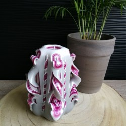 Bougie sculptée, Moyenne rose